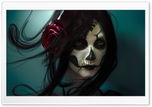 Skull Girl HD Wide Wallpaper for Widescreen