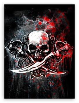 Download Skulls And Daggers HD Wallpaper