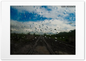 Sky. Rain. Railtracks. HD Wide Wallpaper for Widescreen