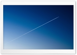 Sky Gradient. And Trace of an Airplane HD Wide Wallpaper for Widescreen