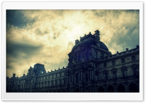 Sky of Musee du Louvre HD Wide Wallpaper for 4K UHD Widescreen desktop & smartphone