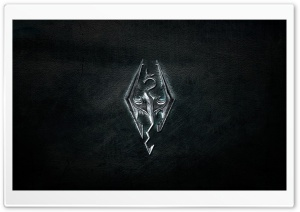 Skyrim Logo HD Wide Wallpaper for Widescreen