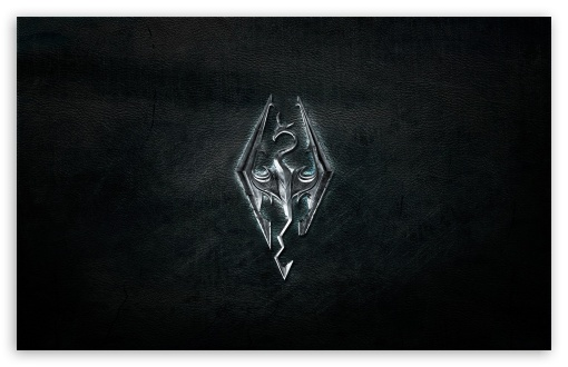 download skyrim logo hd wallpaper