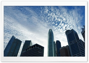 Skyscraper and Cloud HD Wide Wallpaper for Widescreen
