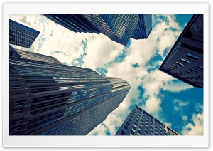 Skyscrapers And Couds HD Wide Wallpaper for 4K UHD Widescreen desktop & smartphone