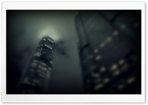 Skyscrapers at Night HD Wide Wallpaper for Widescreen