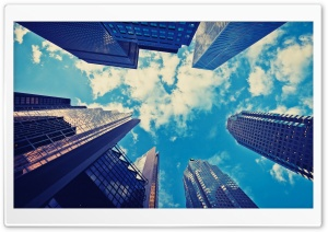 Skyscrapers Blue Sky HD Wide Wallpaper for Widescreen