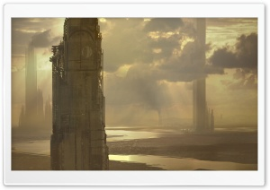 Skyscrapers Fantasy Art HD Wide Wallpaper for Widescreen