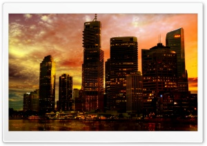 Skyscrapers In The Sunset HD Wide Wallpaper for 4K UHD Widescreen desktop & smartphone