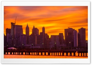 Skyscrapers, New York City HD Wide Wallpaper for Widescreen