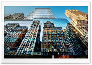 Skyscrapers Reflections HD Wide Wallpaper for Widescreen