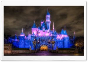 Sleeping Beauty Castle HD Wide Wallpaper for Widescreen