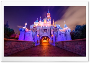 Sleeping Beauty Castle, Disneyland HD Wide Wallpaper for 4K UHD Widescreen desktop & smartphone