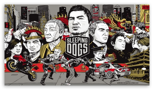 Sleeping Dogs (Video Game) Cartoon HD wallpaper for HD 16:9 High Definition WQHD QWXGA 1080p 900p 720p QHD nHD ; UHD 16:9 WQHD QWXGA 1080p 900p 720p QHD nHD ; Mobile 16:9 - WQHD QWXGA 1080p 900p 720p QHD nHD ;
