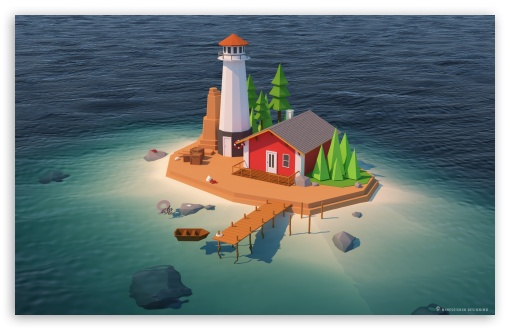 Small island UltraHD Wallpaper for Wide 16:10 5:3 Widescreen WHXGA WQXGA WUXGA WXGA WGA ; Tablet 1:1 ; Mobile 5:3 - WGA ;