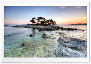 Small Island HDR HD Wide Wallpaper for Widescreen