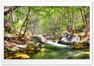 Small River HDR HD Wide Wallpaper for Widescreen
