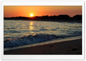 Small Wave, Sunset HD Wide Wallpaper for Widescreen