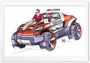 Smart Rescue Sketch 2 Ultra HD Wallpaper for 4K UHD Widescreen desktop, tablet & smartphone