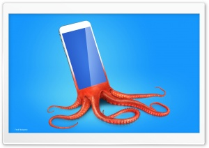 Smartphone Tentacles Ultra HD Wallpaper for 4K UHD Widescreen desktop, tablet & smartphone