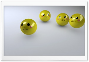 Smiley Faces 3D HD Wide Wallpaper for Widescreen