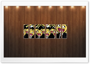 Smiley Faces Picture   Wood Wall HD Wide Wallpaper for 4K UHD Widescreen desktop & smartphone