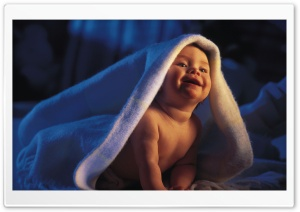 Smiling Baby HD Wide Wallpaper for Widescreen