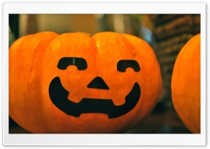 Smiling Pumpkin HD Wide Wallpaper for Widescreen