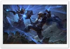 Smite, Thor vs Hades Concept Art HD Wide Wallpaper for Widescreen