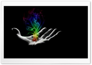 Smoky Hand Colorful Dark HD Wide Wallpaper for Widescreen