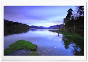 Smooth Lake Surface HD Wide Wallpaper for Widescreen