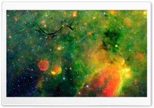 Snake On The Galactic Plane HD Wide Wallpaper for Widescreen
