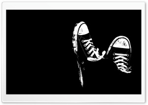 Sneakers Black And White HD Wide Wallpaper for Widescreen