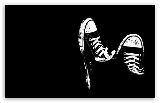 Download sneakers black and white hd wallpaper