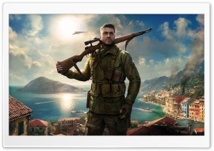Sniper Elite 4 Game 4k HD Wide Wallpaper for Widescreen
