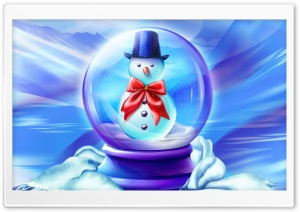 Snow Globe HD Wide Wallpaper for Widescreen