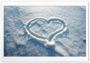 Snow Heart HD Wide Wallpaper for Widescreen