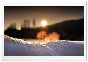 Snow In Sunlight HD Wide Wallpaper for Widescreen