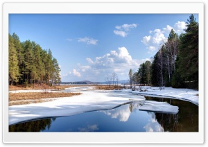 Snow Melting HD Wide Wallpaper for Widescreen