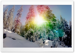 Snow Rainbow Circle HD Wide Wallpaper for Widescreen