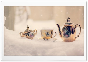 Snow Tea HD Wide Wallpaper for Widescreen