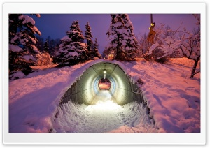 Snow Tunnel HD Wide Wallpaper for 4K UHD Widescreen desktop & smartphone