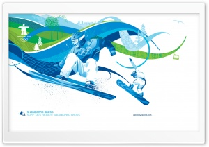 Snowboard Cross HD Wide Wallpaper for Widescreen