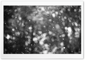 Snowflakes Bokeh HD Wide Wallpaper for Widescreen