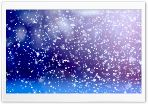 Snowflakes Falling HD Wide Wallpaper for 4K UHD Widescreen desktop & smartphone
