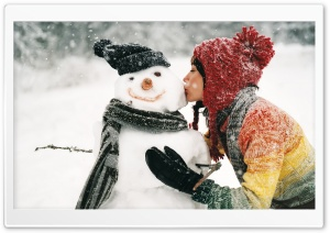 Snowman HD Wide Wallpaper for Widescreen