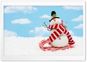 Snowman Craft HD Wide Wallpaper for 4K UHD Widescreen desktop & smartphone