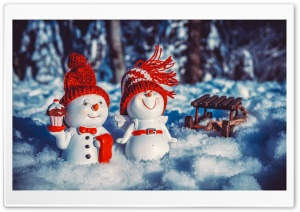Snowman Macro Ultra HD Wallpaper for 4K UHD Widescreen desktop, tablet & smartphone