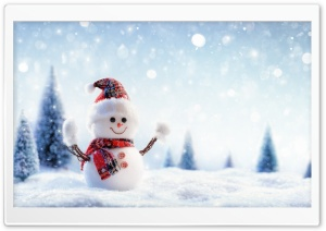 Snowman, Snowfall, Winter Ultra HD Wallpaper for 4K UHD Widescreen desktop, tablet & smartphone