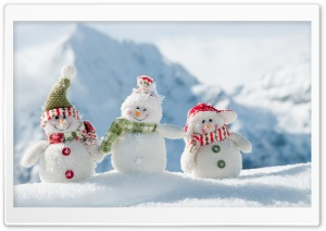 Snowmen HD Wide Wallpaper for 4K UHD Widescreen desktop & smartphone